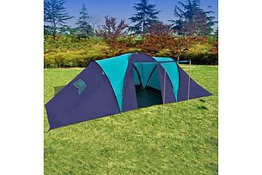 Tält för 9 personer mörkblå & blå
