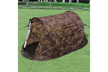 Tvåmannatält i kamouflagefärg