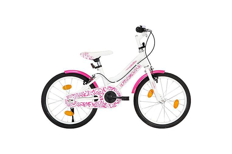 Barncykel 18 tum rosa och vit - Rosa - Sport & fritid - Friluftsliv - Cyklar