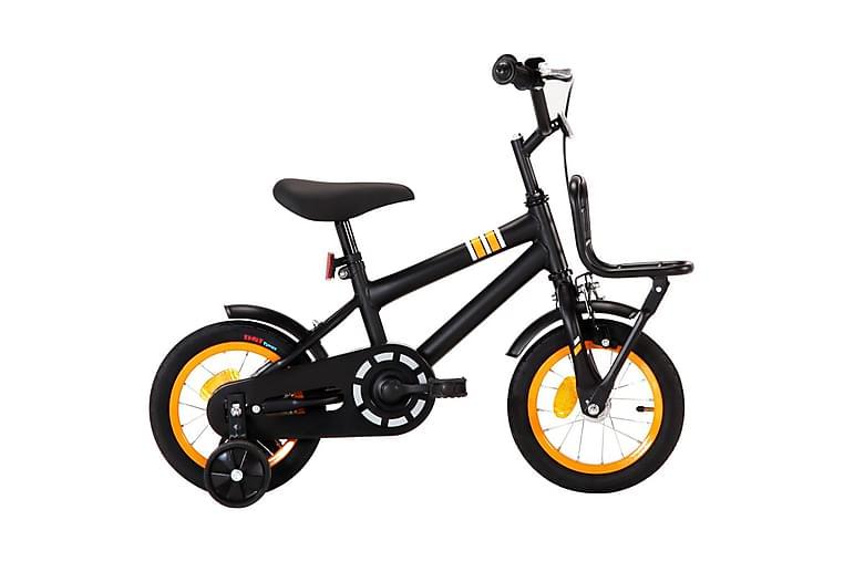 Barncykel med frampakethållare 12 tum svart och orange - Orange - Sport & fritid - Friluftsliv - Cyklar