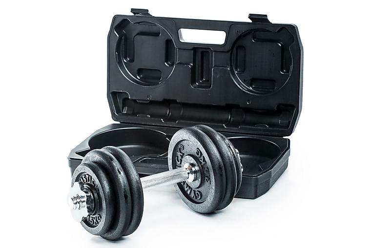 Hantel Gymstick Adjustable Dumbbell Set 20 kg - Svart|Krom - Sport & fritid - Hemmagym - Vikter & skivstänger