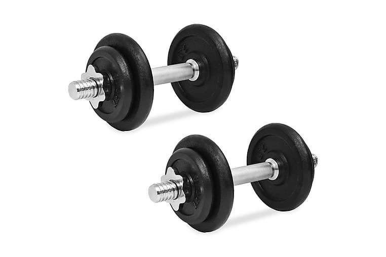 Hantelset 14 delar 20 kg gjutjärn - Svart - Sport & fritid - Hemmagym - Vikter & skivstänger