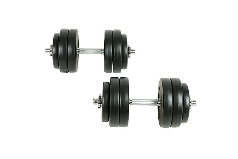 Hantelset 18 delar 30 kg - Svart - Sport & fritid - Hemmagym - Vikter & skivstänger