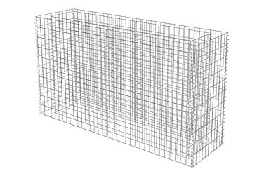 Planteringsgabion i galvaniserat stål 180x50x100 cm