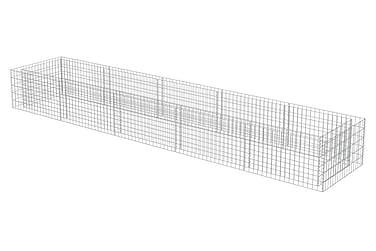 Planteringsgabion i galvaniserat stål 450x90x50 cm