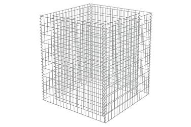 Planteringsgabion i galvaniserat stål 90x90x100 cm