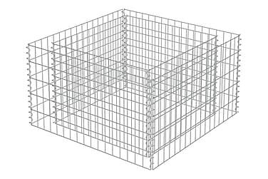 Planteringsgabion i galvaniserat stål 90x90x50 cm