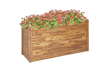 Blomlåda 160x60x84 cm massivt akaciaträ