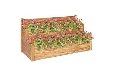 Blomlåda 2 våningar 160x75x84 cm massivt akaciaträ