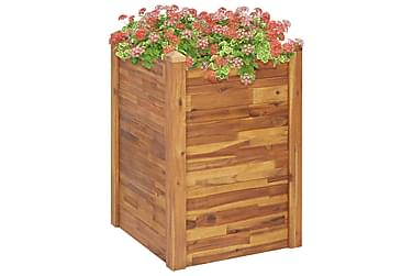 Blomlåda 60x60x84 cm massivt akaciaträ