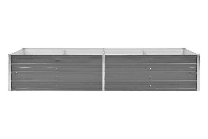 Odlingslåda galvaniserat stål 240x80x45 cm grå - Grå - Trädgård - Blomkrukor - Blomlåda