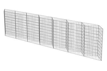 Gabionmur i galvaniserat stål 450x30x100 cm