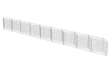 Gabionmur i galvaniserat stål 630x30x50 cm