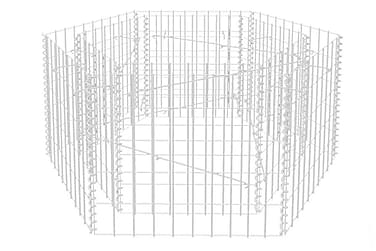 Hexagonal planteringsgabion 100x90x50 cm