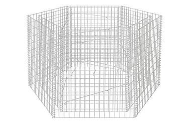 Hexagonal planteringsgabion 160x139x100 cm
