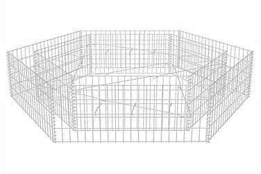 Hexagonal planteringsgabion 200x173x40 cm