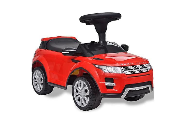 Åkbil för barn Land Rover 348 med musik röd - Röd - Trädgård - Hobby & lek - Lekplats & lekplatsutrustning