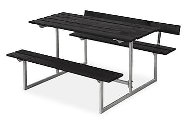 Basic bord- och bänkset för barn med 1 ryggstöd - svart