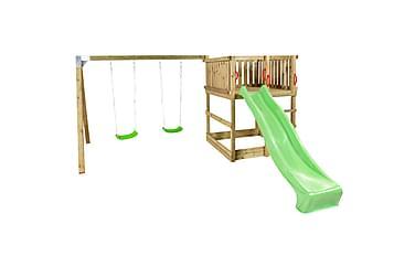 PLUS Play lektorn inkl. gungställning och grön rutschbana