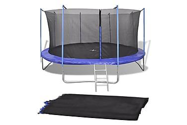 Säkerhetsnät PE svart för 4,57 m rund studsmatta