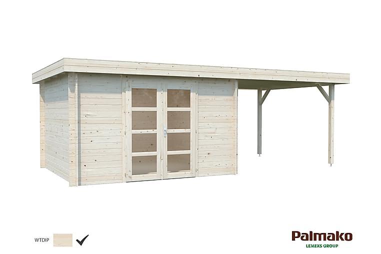 Stuga Elsa 9,6+8,1 m2 impregnerad transparent - Palmako - Trädgård - Hobby & lek - Lekstuga