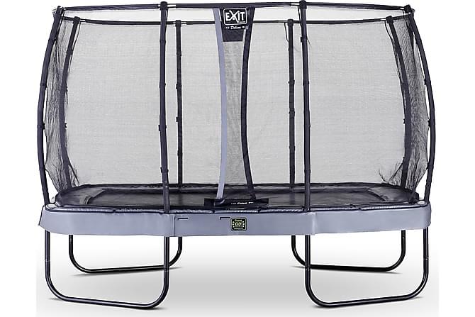 Exit Elegant Premium Studsmatta med Nät Deluxe 244x427 - Grå - Trädgård - Hobby & lek - Studsmattor