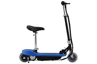 Elektrisk sparkcykel med sadel 120 W blå