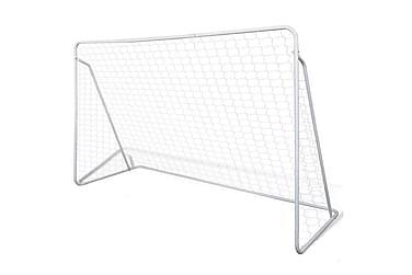 Fotbollsmål i stål m. nät 240 x 90 x 150 cm