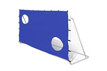 Fotbollsmål m. siktvägg 240x90x150cm
