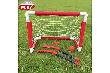 NSH Nordic Play Mini Hockey-set inkl 2 mål+4 klub