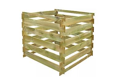 Kompostbehållare 0,54 m3 fyrkantig FSC-trä