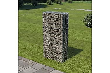 Gabionmur i galvaniserat stål 50x20x100 cm