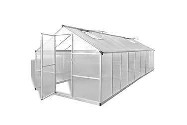 Växthus aluminium 481x250x195 cm 23,44 m3