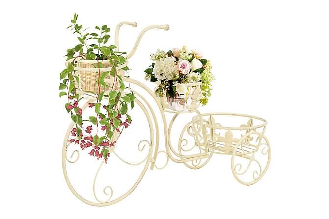 Växtställ cykel vintage stil metall - Vit - Trädgård - Odling & trädgårdsskötsel - Växthushylla
