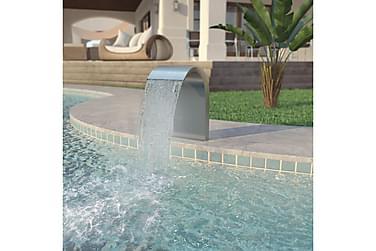 Poolfontän rostfritt stål 45x30x65 cm silver