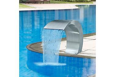 Poolfontän trädgårdsvattenfall i rostfritt stål 45 x 30 x 60