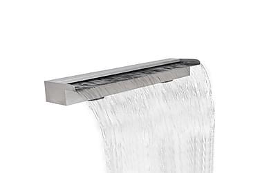 Rektangulärt vattenfall poolfontän i rostfritt stål 150 cm