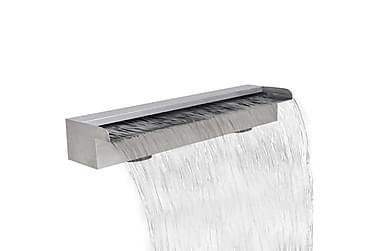 Rektangulärt vattenfall poolfontän i rostfritt stål 60 cm
