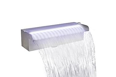 Rektangulärt Vattenfall Poolfontän med LEDs i rostfritt stål