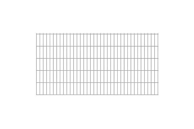 2D Stängselpanel  2008x1030 mm Silver - Trädgård - Trädgårdsdekoration & utemiljö - Staket & grindar