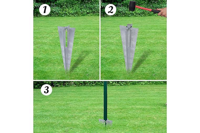 Eurofence stål 10x1 m grön - Grön - Trädgård - Trädgårdsdekoration & utemiljö - Staket & grindar