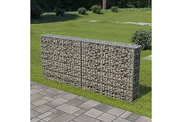 Gabionmur i galvaniserat stål 200x20x85 cm