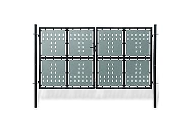 Grind dubbeldörr svart 300 x 200 cm