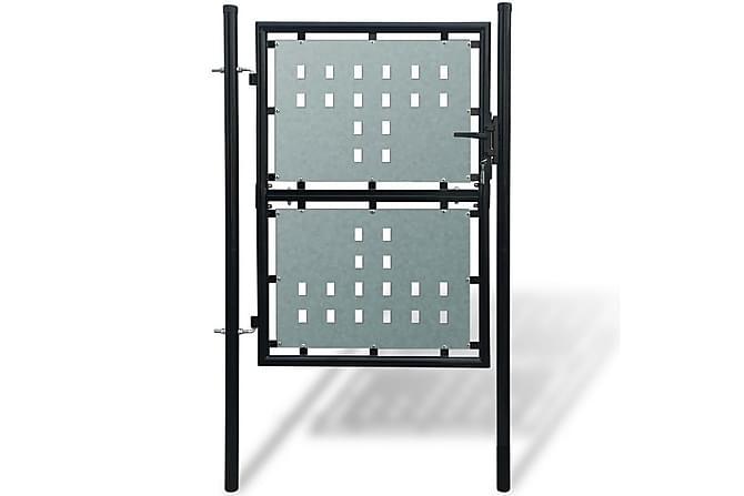 Grind singeldörr svart 100 x 250 cm - Trädgård - Trädgårdsdekoration & utemiljö - Staket & grindar