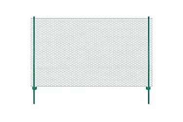 Nätstängsel med stolpar stål 25x1,5 m grön