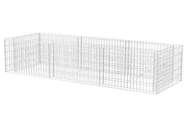 Planteringsgabion stål 270x90x50 cm