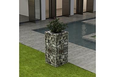 Planteringsgabion i stål 50x50x100 cm