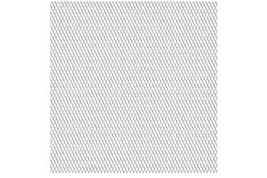 Platta av sträckmetall i rostfritt stål 50x50 cm 30x17x2,5mm