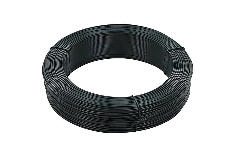 Stagtråd 250 m 0,9/1,4 mm stål svartgrön - Grön - Trädgård - Trädgårdsdekoration & utemiljö - Staket & grindar