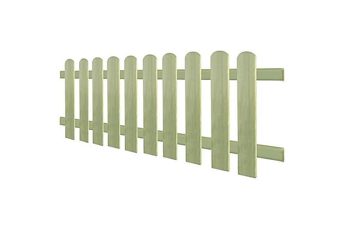 Staket 170x60 cm 6/9 cm impregnerad furu - Brun - Trädgård - Trädgårdsdekoration & utemiljö - Staket & grindar